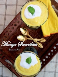 Easy Mango Smoothies that refreshes you on a hot summer day....