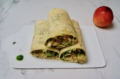 Wraps du pêcheur aux nectarines Tacos, Mexican, Ethnic Recipes, Food, Yogurt Ranch Dressing, Sliced Almonds, Key Lime, Avocado, Meal