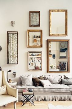"""Traditional Living Room with Yosemite home decor framed mirror, Old modern handicrafts 33"""" h table lamp with bowl shade"""