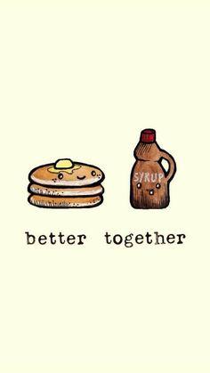 better together wallpaper; Cute Food Wallpaper, Kawaii Wallpaper, Iphone Wallpaper, Cute Images For Wallpaper, Cute Food Drawings, Kawaii Drawings, Cute Backgrounds, Cute Wallpapers, Best Friend Wallpaper