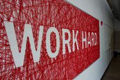 Work Hard. String Typography — Andrew Moraca