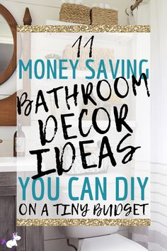 11 Small Bathroom Decor Ideas You Can DIY On A Really Small Budget is part of - Small bathroom decor ideas that you can diy on a really small budget Including functional small bathroom organization & storage solutions that look great! Small Bathroom Ideas On A Budget, Small Bathroom Inspiration, Small Bathroom Organization, Budget Bathroom, Diy On A Budget, Organization Hacks, Cozy Bathroom, Bathroom Hacks, Diy Bathroom Decor