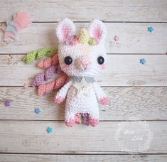 Amigurumi little unicorn free crochet pattern, is waiting for you in this article. We always keep you up to date with the most current amigurumi patterns. Crochet Double, Crochet Simple, Cute Crochet, Crochet Toys, Amigurumi Doll, Amigurumi Patterns, Crochet Motifs, Crochet Patterns, Easy Patterns