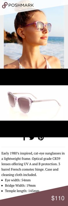 Wildfox Parker Sunglasses New, chic, and unique! Clear crystal color with a hint of several different colors Wildfox Accessories Sunglasses