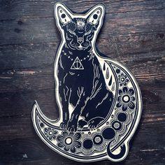#cat #moon #tattoo