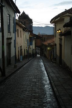 Cuzco, Peru cobblestone