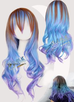 HARAJUKU Mix Colorful Culy Long Party Costume Cosplay Anime Wig.Free Shipping-in Wigs from Beauty & Health on Aliexpress.com