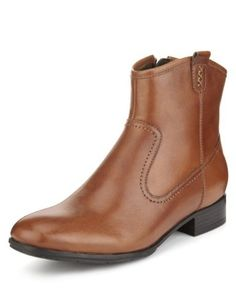Footglove™ Leather Ankle High Boots-Marks & Spencer Don't care if they are Footglove - I love em!