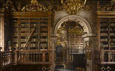 Biblioteca Joanina, Coimbra, Portugal.