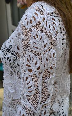 """Блузки ручной работы. Заказать Жакет """"Белые цветы"""". Nata Irish lace (BelayaNataliya). Ярмарка Мастеров. Ирландское кружево"""