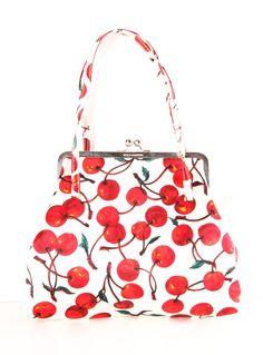 Cherry print bag by Dolce & Gabbana Shopper Tote, Satchel, Fashion Bags, Fashion Accessories, Jimmy Choo, Women's Shoes, Cherry Baby, Cherry Cherry, Sacs Design