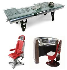 Furniture from old retired aircraft and airliners.