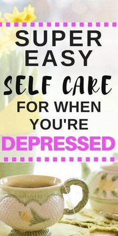 Easy self care ideas to help you cope with depression when you don't have any motivation to do anything. What's your go-to easy mode of self-care? Depression Recovery, Dealing With Depression, Depression Support, Fighting Depression, Depression Remedies, Mental Health, Corona, Dental Health, Tips