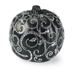 Halloween Bling Pumpkins - Black and Cream