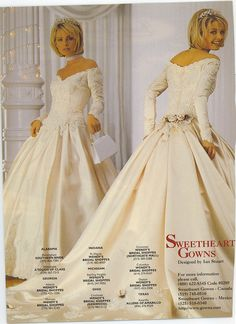 Bride in a vintage wedding gown from a magazine. Vintage Gowns, Vintage Bridal, Beautiful Wedding Gowns, Beautiful Dresses, Bridal Gowns, Wedding Dresses, Bridal Bouquets, Perfect Bride, Bridal Style