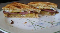Pan fried spam fried egg gruyere pineapple deli mustard and Secret Aardvark habanero sauce on sourdough #sandwiches #food #lunch #love #salads #recipe #breakfast #coffee #foodie #foodporn
