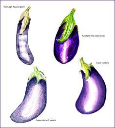 Test media aubergine