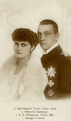 Franz Josef of Hohenzollern-Sigmaringen and Maria Alix of Saxony.