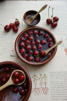 Cireres genovines. Cuinaalfoc.blogspot.com  Medieval recipe