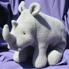 Randy Rhino Toy Sewing Pattern