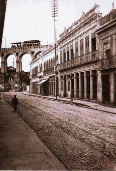 Rio de janeiro, Rua Riachuelo, Lapa, em 1912