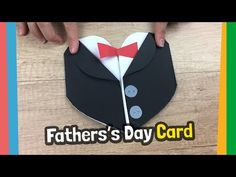 How to make Tuxedo, Fathers day gift card - simple and quick to make craft for father with kids. Support my channel via Patreon and get access to Templates, Printables and more! Great and simple to make gift card for daddies. You will just need paper Diy Father's Day Gifts From Baby, Diy Father's Day Gifts Easy, Gifts For Kids, Christmas Presents For Parents, Handmade Envelopes, Quick Crafts, Fathers Day Crafts, Birthday Cards For Men, Birthday Crafts