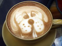Baristas Even Create Animal Portraits    dogs & coffee oooooooo, my 2 favorites!!