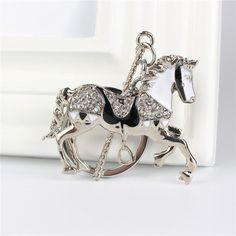 Horse Rhinestone Crystal KeyChain