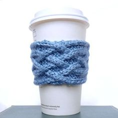 Celtic Plait Coffee Cup Sleeve Pattern Purl Avenue, Such a great site - they include links directly in the free pattern to show how to do the complex stitches! I am going to try this!