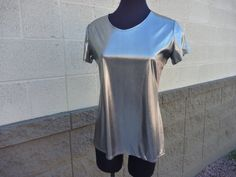 Silver shiny Top Blouse Tunic .Party clothing.Sexy by Violawear, $44.00