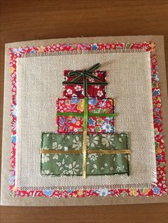 66 Ideas Sewing Projects Winter Fabrics For 2019 Christmas Applique, Christmas Card Crafts, Christmas Sewing, Christmas Cards To Make, Christmas Projects, Christmas Decorations, Christmas Ornaments, Fabric Cards, Fabric Postcards