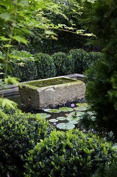 Formal Garden Designs and Ideas Have you ever really thought about how many people see the outside of your home? Small Courtyard Gardens, Formal Gardens, Outdoor Gardens, Formal Garden Design, Small Yard Landscaping, Water Features In The Garden, Mediterranean Garden, Garden Fountains, Garden Inspiration