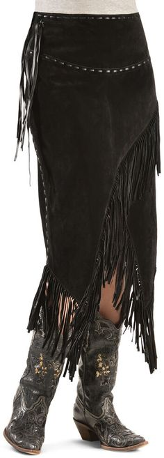 Looking for the perfect Scully Asymmetrical Fringe Suede Leather Skirt? Please click and view this most popular Scully Asymmetrical Fringe Suede Leather Skirt. Suede Fringe Skirt, Leather Fringe, Suede Leather, Fringe Boots, Leather Boots, Cowgirl Skirt, Cowgirl Style, Cowgirl Fashion, Cowboy Girl