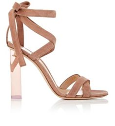 Gianvito Rossi Suede Ankle-Tie Sandals at Barneys New York
