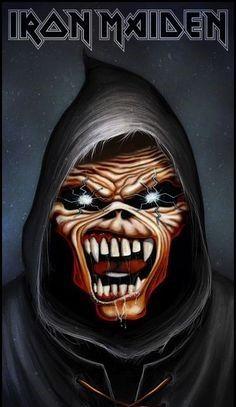 Eddie Black Metal, Heavy Metal Rock, Heavy Metal Music, Heavy Metal Bands, Iron Maiden Album Covers, Iron Maiden Albums, Death Metal, Rock Posters, Band Posters