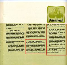DisneylandS  Employee Handbook Was Just As Strict As YouD