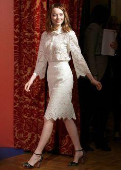 Emma Stone de Valentino y Dolce&Gabbana en Roma