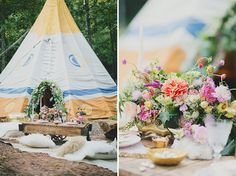 Adore these florals by Lindsay Coletta // Tipi Wedding Inspiration on Tipi Wedding Inspiration, Bohemian Wedding Theme, Floral Wedding, Tepee Wedding, Wedding Ideas, Wedding Fun, Wedding Details, Wedding Ceremony, Wedding Color Schemes