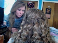 My friends hair i did for her 8th grade grad dance !