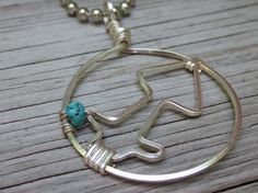 Saggitarius Pendant with Turquoise by RockKandyJewelry on Etsy, $25.00