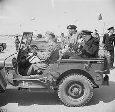 General Montgomery (centre), pictured with Winston Churchill (right), hoped to inspire the troops taking part in D-Day by telling them how 'the time has come to deal the enemy a terrific blow in western Europe'