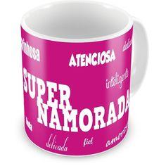 Caneca Porcelana Personalizada Super Namorada Amorosa - ArtePress   Brindes Personalizados, Canecas, Copos, Xícaras
