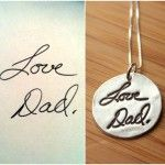 Items similar to Custom Handwriting or Artwork Necklace from Fine Silver using Actual Hand Writing or Signature on Etsy Cute Gifts, Great Gifts, Awesome Gifts, Creative Gifts, Jewelry Box, Jewelry Accessories, Jewlery, Custom Jewelry, Jewelry Ideas