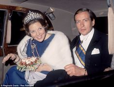 Queen Beatrix and Prince Claus leave the Savoy Hotel in London