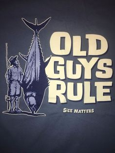"Old Guys Rule "" Size Matters "" T Shirt Mens Medium Blue Fishing Marlin Funny  #OldGuysRule #GraphicTee"