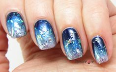 Blue Space Nails for Manic Monday #6 Pink & Blue