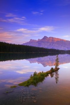 Designpics Mount Rundle Alberta Canada by Carson Ganci Photographic Print on Canvas