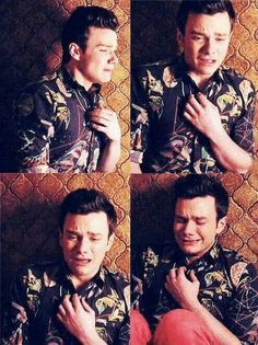 Kurt 6x01 <---- I THINK SETTING MYSELF ON FIRE IS LESS PAINFUL THAN THIS.