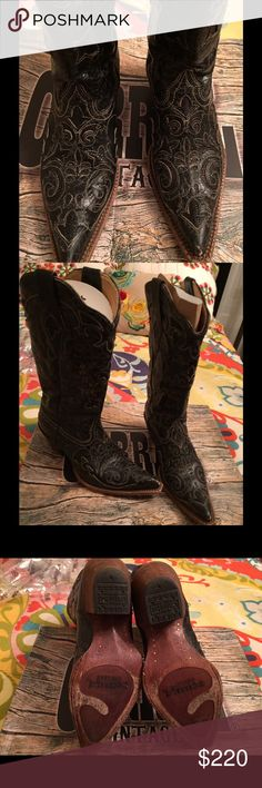 HOT Cowboy Boots If you know cowboy boots, you know Corral is one of the premier brands. These boots are totally on point with jeans or dresses. Rich black leather with lizard inserts. Worn nor more than twice. The leather smell is Heaven! Comes in original packaging. Get them for less and dance the night away. Corral Shoes Heeled Boots