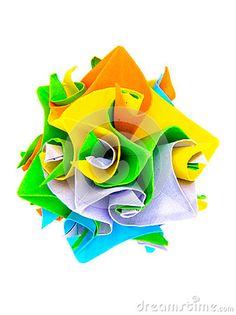 Stock Image: Origami flower made paper folded folding japanese art curling sphere white. Origami Flowers, How To Make Paper, Curling, Flower Making, Japanese Art, Landscapes, Image, Japan Art, Paisajes
